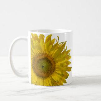 Mariage jaune de tournesol mug blanc