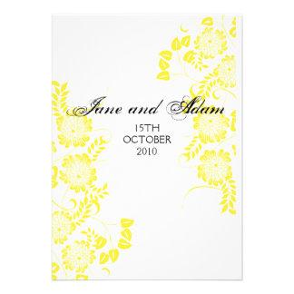 mariage jaune invitations