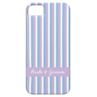 Mariage lilas de rayures blanches lilas bleues coque iPhone 5 Case-Mate