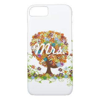 Mariage lunatique d'arbre de fleur coque iPhone 7