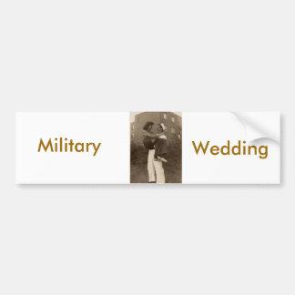 Mariage militaire autocollant de voiture