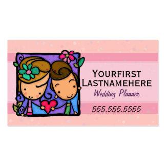 Mariage Planner.Engagement.Therapist.Appointment Carte De Visite Standard