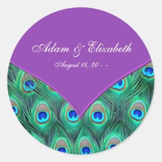 Mariage pourpre violet de paon