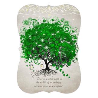 Mariage romantique rustique d arbre de feuille de invitations