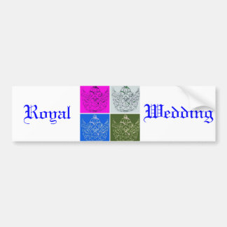 Mariage royal/couronne autocollant de voiture