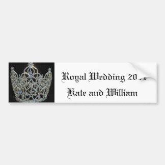 Mariage royal/Kate et William Autocollant De Voiture