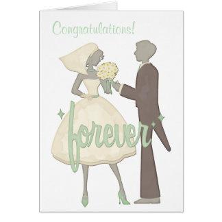 Mariage spécial de jour de félicitations carte de vœux
