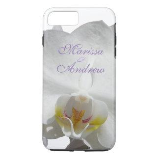Mariage tropical blanc d'orchidée coque iPhone 7 plus