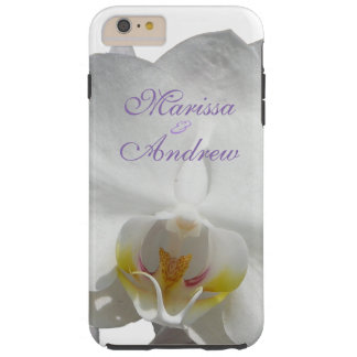 Mariage tropical blanc d'orchidée coque tough iPhone 6 plus