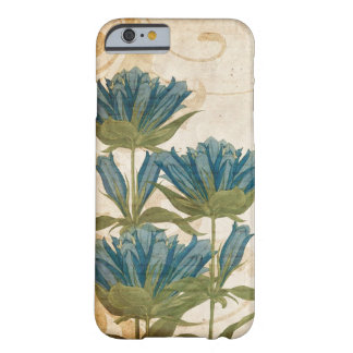 Mariage vintage de fleurs bleues coque iPhone 6 barely there