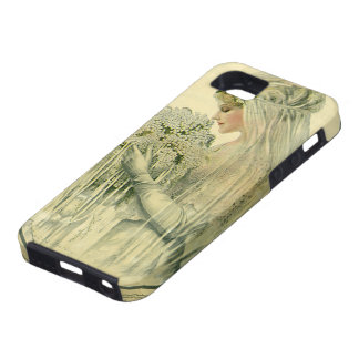 Mariage vintage, portrait nuptiale de jeune mariée coque iPhone 5 Case-Mate