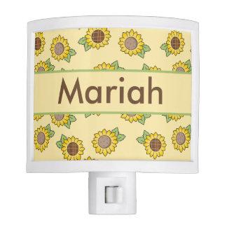 Mariah's Personalized Sunflower  Night Light