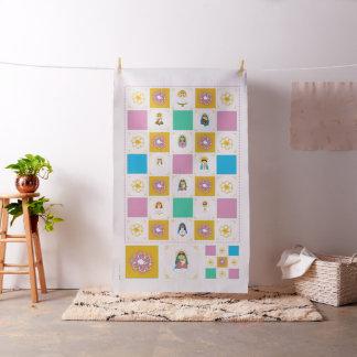Marian Cute Saint Baby Quilt Squares Fabric