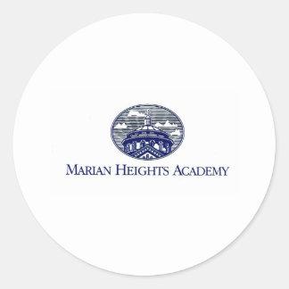 Marian Heights Academy Logo Classic Round Sticker