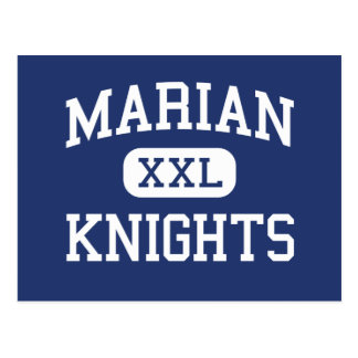 Marian - Knights - High School - Mishawaka Indiana Postcard