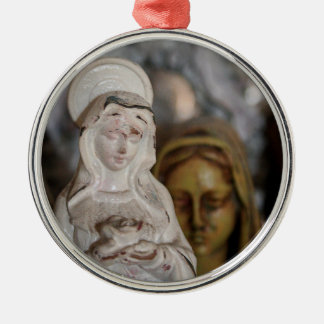 MARIAN TRADITIONS Silver-Colored ROUND ORNAMENT