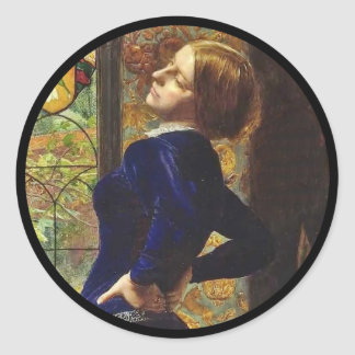 Mariana at the Window Classic Round Sticker