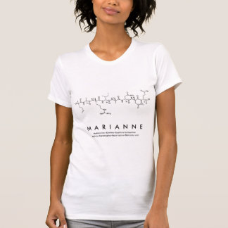 Marianne peptide name shirt