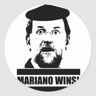 Mariano Wins! Classic Round Sticker