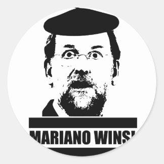 Mariano Wins! Round Sticker