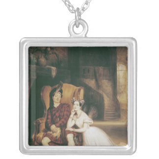 Marie and Paul Taglioni the ballet 'La Sylphide' Silver Plated Necklace
