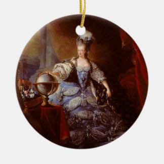 Marie Antoinett of Austria by Jean Baptiste Dagoty Ceramic Ornament