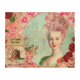 "Marie Antoinette, 10""x8"" Wood Wall Art"