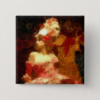Marie Antoinette 2 Inch Square Button