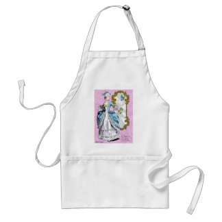 Marie Antoinette and Bluebird Adult Apron