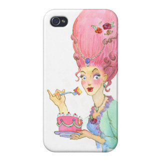 Marie Antoinette and Cake Pin Up iPhone 4 Case