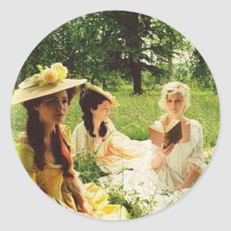 marie antoinette and friends classic round sticker