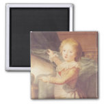 Marie-Antoinette and her Children Square Magnet