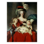 Marie-Antoinette  and her Four Children, 1787 Print
