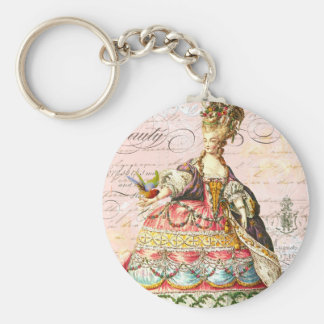 Marie Antoinette and Pink Paris Keychain
