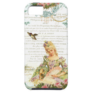 Marie Antoinette and Sparrow French Script iPhone 5 Cover