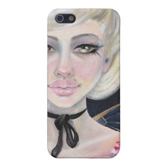 Marie Antoinette and the cherry topped cupcake Cover For iPhone 5/5S