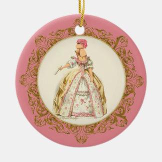 Marie Antoinette Apricot Poodle Ornament
