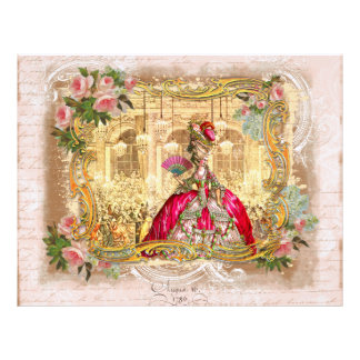 Marie Antoinette at Versaille Letterhead Template