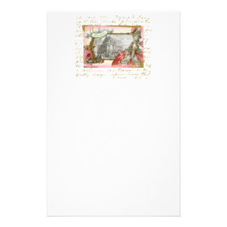 Marie Antoinette at Versailles Collage Stationery