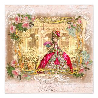 Marie Antoinette at Versailles in Pink Card