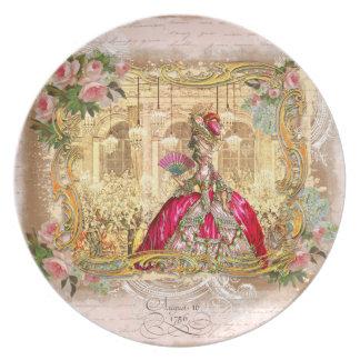 Marie Antoinette at Versailles in Pink Plate