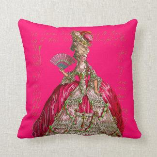Marie Antoinette at Versailles Tea Party Pillow