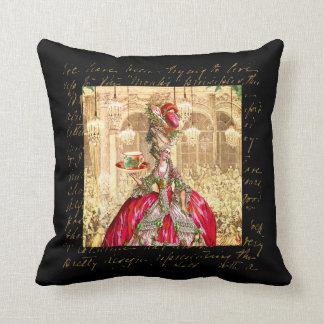Marie Antoinette at Versailles Tea Party Pillows