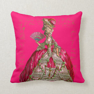 Marie Antoinette at Versailles Tea Party Throw Pillow