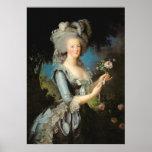 Marie Antoinette avec un rose, 1783 Poster