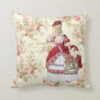 Marie Antoinette Beige Floral Pillow cushion