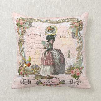 Marie Antoinette Black Poodle Pillow
