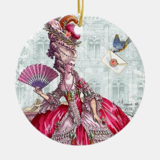 Marie Antoinette & Bluebird Christmas Ornament