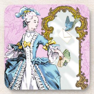 Marie Antoinette & Bluebird Drink Coasters
