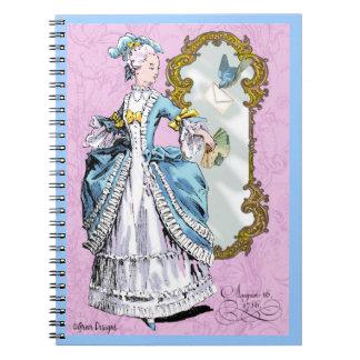 Marie Antoinette & Bluebird Spiral Notebook